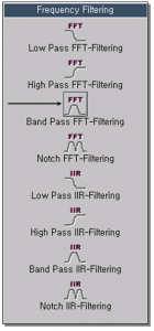 Band Pass FFT-Filtering 1
