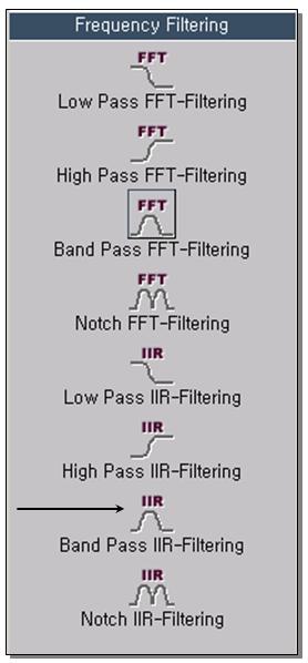 Band Pass IIR-Filtering 1