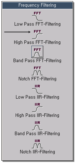 High Pass FFT-Filtering 1