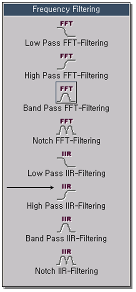 High Pass IIR-Filtering 1
