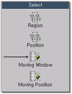 Selection Using Moving Window 1